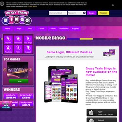 Play our mobile bingo games with £15 Free + 900% cash!