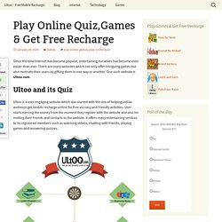 Play Online Quiz,Games & Earn Free Recharge
