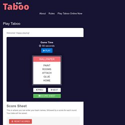 Play Taboo Online Now