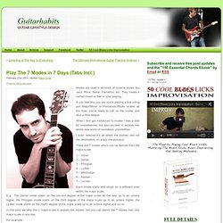 Play The 7 Modes in 7 Days (Tabs Incl.)