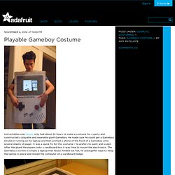 Playable Gameboy Costume