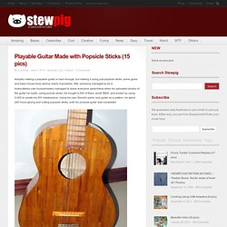 Playable Guitar Made with Popsicle Sticks (15 pics) | Stewpig.com | Pig Your...