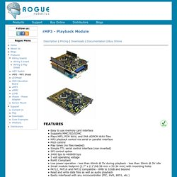 rMP3 - Playback Module | Rogue Robotics