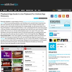 Playboard App Guide Is Like Flipboard For Android App Discovery