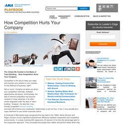 AMA Playbook How Competition Hurts Your Company