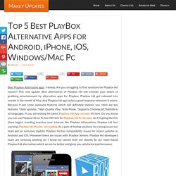 Top 5 Best Playbox Alternative apps-Playbox HD Similar apps