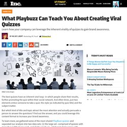 What Playbuzz Can Teach You About Creating Viral Quizzes