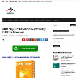 GOM Player 2.3.8.5262 Crack With Key Full Free Download