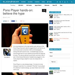 Pono Player hands-on: believe the hype