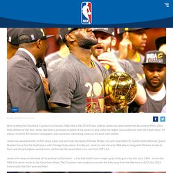 NBA Player LeBron James Wins AP Male Athlete Of The Year Award