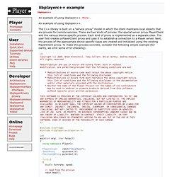 Player: libplayerc++ example