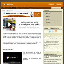 8 Player video web gratuits pour votre site