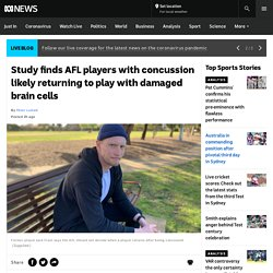 Study finds AFL players with concussion likely returning to play with damaged brain cells