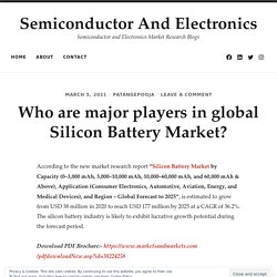 Who are major players in global Silicon Battery Market?