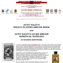 Aunt Sally's Policy Players Dream Book and Aunt Sally's Lucky Dream Spiritual Supplies
