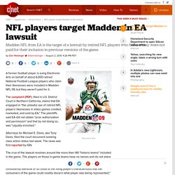 NFL players target Madden in EA lawsuit