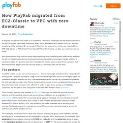How PlayFab migrated from EC2-Classic to VPC with zero downtime