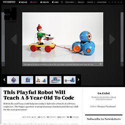 This Playful Robot Will Teach A 5-Year-Old To Code