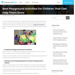 Best Playground Activities for Children That Can Help Them Grow