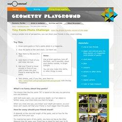 Geometry Playground: Activities: Tiny pants photo challenge