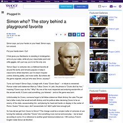Simon who? The story behind a playground favorite - Video Games Blog Plugged In
