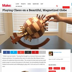 Playing Chess on a Beautiful, Magnetized Globe