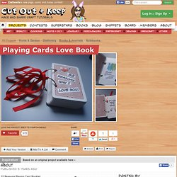 Playing Cards Love Book