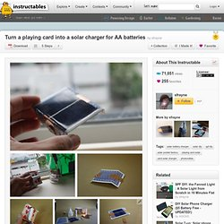 Turn a playing card into a solar charger for AA batteries