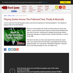Playing Scales Across The Fretboard Fast, Fluidly & Musically