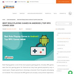 Best Role Playing Games in Android