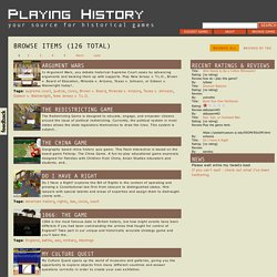 Playing History