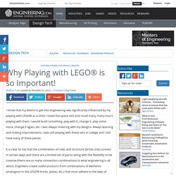 Why Playing with LEGO® is so Important!