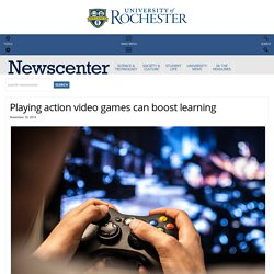 Playing action video games can boost learning : NewsCenter