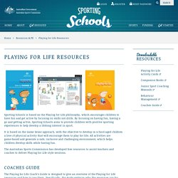 Playing for Life Resources