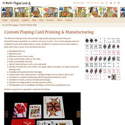 Custom Playing Card Printing & Manufacturing - World of Playing Cards
