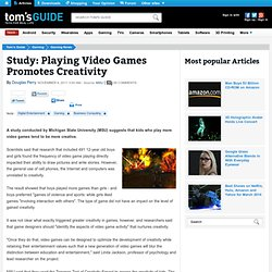 Study: Playing Video Games Promotes Creativity