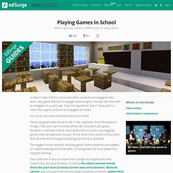 Playing Games In School