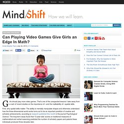 Can Playing Video Games Give Girls an Edge In Math?