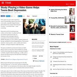 Jouer un jeu vidéo aide les ados à battre la dépression