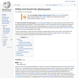 Online text-based role-playing game