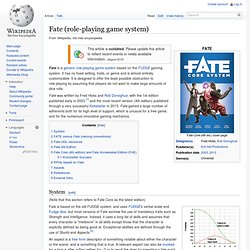FATE (role-playing game system)