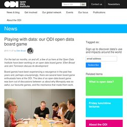 Playing with data: our ODI open data board game