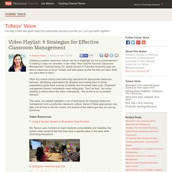 Video Playlist: Classroom Management