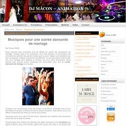 Playlist 2012 : Musiques pour soirée dansante de mariage