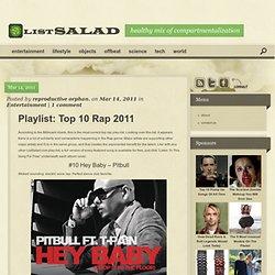 Playlist: Top 10 Rap 2011