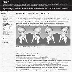 tapin² - Playlist #4 - Utiliser tapin² en classe