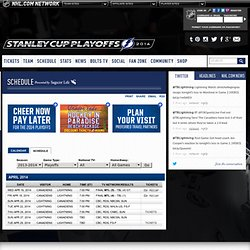 2010-2011 Regular Season Schedule/Results - Tampa Bay Lightning - Schedule