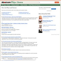 One Act Plays and Two Person Scenes - Drama Resources