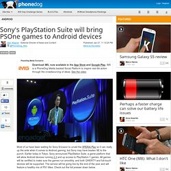 Sony's PlayStation Suite will bring PSOne games to Android devices