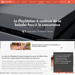 La PlayStation 4 continue de se balader face à la concurrence - Business